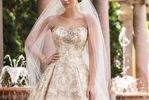 Yellow & Gold Wedding Gowns / Wedding dresses, bridesmaids gowns and evening dresses in yellow, cream, mustard, amber, beige, saffron, champagne