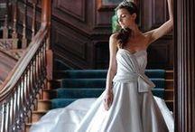 Light Blue Gowns / Wedding dresses, bridesmaids gowns and evening dresses in light blue, baby blue, powder blue / by Wedding Inspirasi