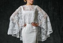 Capes, Capelets, Cloaks / Wedding gowns with a showstopping cape, capelet or cloak.