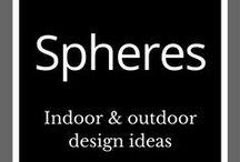 Spheres Sculptures / Art inspiration | Garden art | Outdoor design | Garden sculptures | Sphere sculpture | Metal art | Abstract metal sculpture | Garden design | Garden ideas