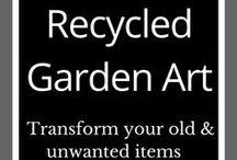Recycled Garden Art / Art | Design | Garden art | Recycle | Upcycle | Garden art from junk | DIY garden ideas | Outdoor living | Backyard ideas | Garden art recycled | Garden art ideas
