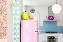 Interior home colorful