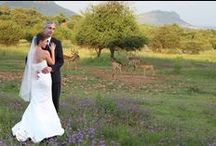 African Bush/Safari Wedding / Africa is such a perfect wedding venue, the bush and the animals give it a rustic and mysterious feel. The gorgeous sunsets make photos unique.