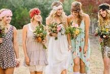 Hippie Wedding / The hippie era was filled with words like love and peace. It was often colourful,  bright and floral. Take a trip with us back to the 60's and 70's for cute hippie ideas.