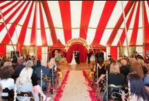 Circus & Carnival Wedding / A circus wedding is a fun and colourful experience, you can get hire some acts and have your guests roll with laughter. We love a circus wedding.