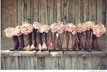 Cowboy Wedding / A cowboy wedding can be a lot of fun, although often rustic, you can add some soft touches. There is lots of dancing and your guests can even dress-up.