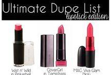 Make Up Dupes  / Make Up Dupes I <3 a good bargain.