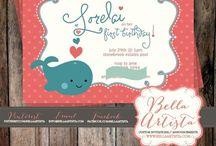 BellaArtista Invitations / My invitations are now sold on www.bellaartista.com / by BellaArtista