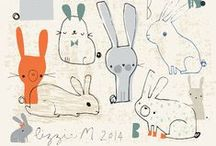 foxes, rabbits + sheep... oh my / by Patty Rybolt