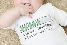 Babies- Onesie Ideas / Baby shower activity: onesie decorating ideas for our little man, Logan.
