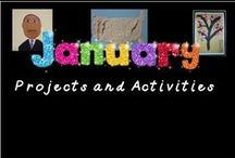 January Ideas / A group of useful ideas I can use in my classroom during January.