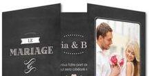 Mariage thème Ardoise / Des idées de cartes & décoration pour un mariage unique sur le thème ardoise avec Planet-cards & Planet Photo