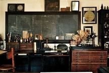 Studio Space / studio   workspace   artist   designer   tools of the trade   easel   organization   desk   work table   work light   chair   planning   office   drafting table   flat file   work surface   work area
