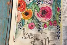 Bible journaling / tips and tricks and ideas for journaling in the Bible