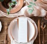 WEDDING [ place settings ] / wedding tables | menu | place cards |