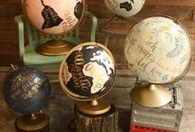 gorgeous globes / trendy and gorgeous hand-painted globes