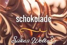schokolade / Alles rund um Schokolade. Genuss pur für Schokoholics. Schokoladenkuchen, Schokoladen Gebäck, Schokoplätzchen oder auch Schokoladencreme.