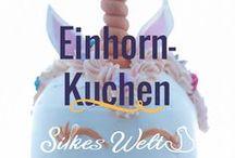 Einhorn / Alles rund um das Thema Einhorn. Was kann man da schönes backen? Ich liebe Einhörner und es gibt ganz witzige Ideen. Von Cookies, Macarons und natürlich Kuchen.