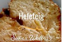 Hefeteig / Hefeteig ist immer toll und schmeckt lecker. Was kann man da alles Tolles daraus herstellen. Vom Zopf über Kuchen. Sowohl süß, wie auch salzig. Hefegebäck und Hefekuchen ist nie langweilig!