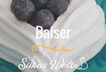 Baiser / Rezepte rund um Baiser / Meringue. Sei es Torten, Gebäck oder Cookies. Oft sind die Rezepte glutenfrei aber nicht immer. #Baiser #merigue #pawlova