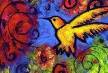 Bird Art / lovely feather of flight