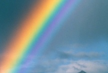 NOAH'S PAINT BOX / The colors in a rainbow, red, orange, yellow, green, blue, indigo, violet...put in order so long ago by The Master Designer, Himself.  Still delights the eyes to see the colors of a rainbow!