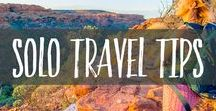 Solo Travel Tips / Ready to embrace solo travel? Our solo travel tips and strategies will help you to feel confident, safe and excited about exploring the world traveling solo. Carpe Diem!