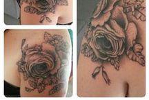 Tattoo - vintage flora