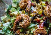 Seafood Salads / Kick-start the summer season with healthy seafood salads!