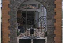 Iron Gates by Appalachian Ironworks / Custom fabricated iron gates by Appalachian Ironworks in Roanoke County Virginia since 1999 / by Appalachian Ironworks