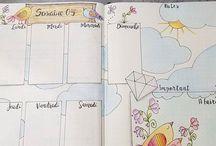 Bullet journal / Pretty layouts