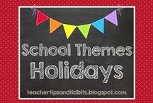 School Ideas - Holidays / Ideas for the holidays for the elementary classroom