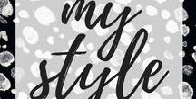 my style / • clothes I would wear • caution, lots of black! •