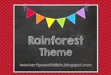 Rainforest or Jungle Theme Classroom / Decorating a classroom with a rainforest or jungle theme