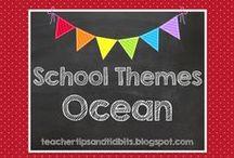 School Themes - Ocean / Ocean theme ideas for the elementary classroom