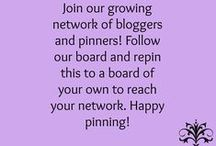 Pinners & Bloggers / Bloggers & pinners can join our collaborative board and expand their network. To be a collaborator, message Rosina Motta and request to be added. You must follow this board and all others who follow as well in order for us to all expand our reach. If you have questions, message Rosina. Happy pinning!