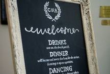 Wedding & Party Decor Inspiration / Escort cards, programs, signage, decor for weddings and parties