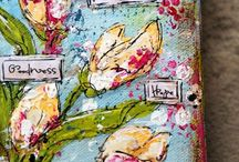 art journal y mix media