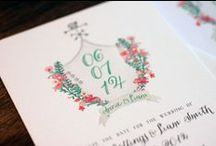 Watercolor Invitations / for weddings, bridal showers, baby showers, parties and more - designed by The Charm Studio
