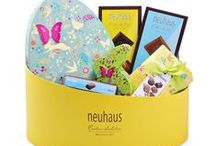 Easter Gift Baskets + Belgian Chocolates / The best Belgian chocolates, fresh fruit, and gourmet treats, delivered by the Easter Bunny all over Europe.