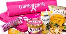 Think-Pink Gift Collection / Think-Pink is the National Breast Cancer Campaign in Belgium. When you send one of these lovely gifts, you also support their mission to inform, raise awareness, support scientific research, and raise money for care and after-care projects.