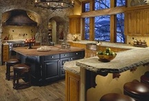 Kitchens.Designs.Layouts / I want big, huge, cozy kitchen so I can create wonderful things that taste wonderful.