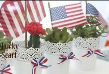 Red, White & Blue / Patriotic decor, food and activities.