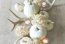 Natural Autumn Decor / Lovely harvest decor for Fall focused on natural materials.