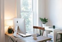 Workspace / Great workspace inspiration (craftrooms, offices, etc.) / by Molly Lambeth
