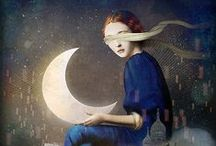 Luna / The moon and the stars... the night sky makes me happy / by Holly Turney