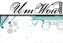 UmWowStudio Products / Various products offered by UmWowStudio including #paper crafts, chipboard embellishments, handmade flowers and embellishments + more