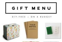(DIY free!) on a budget gift menu / The Around the Table podcast offers four gift menus in unique categories like this one, DIY free but on a budget.