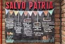 Chalkboards à la carte / Tableros de Restaurantes que nos gustan. #chalkboards #restaurants  #handwriting