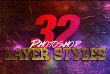 Photoshop Layer Styles / The Creative Photoshop Layer Styles Board contains psd layer styles that are sold exclusively on graphicriver and can be used for a variety of design projects, including Posters, Flyers etc. Use one click to apply or copy the style from the provided psd file. Great for Text or Shapes. / by Michael Taylor